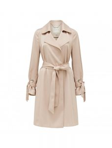 Nude Joliet Soft Silky Trench Coat, 1899, Forever New