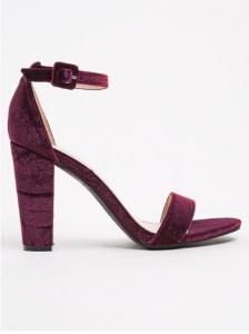 Dark Red Velvet Shoes_R599, Daniella Michelle, Zoom