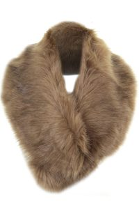 Luxury Faux Fur Collar Stole_R159