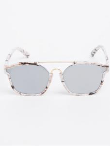 Black and White Marble Print Sunglasses, R189_Spree