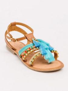 Neutral Tassel Trim Sandals_R699.00