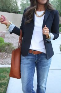 Jeans with accessories