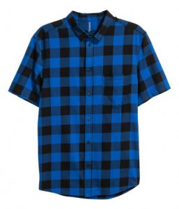 Short-sleeved flannel shirt_R249.99_H&M