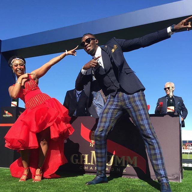 Minnie Dlamini and Usain Bolt
