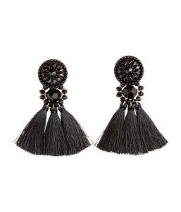 Black Tassel Earrings_R149_H&M