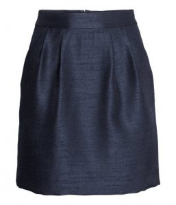 Dark Blue Textured skirt_R329.00 H&M