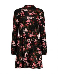 Balloon Sleeve Turtleneck Swing Dress_R353.07_Woolworths