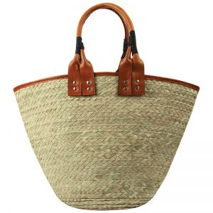 Ivy Straw Tote with Leather Trim_R250.00_Poetry