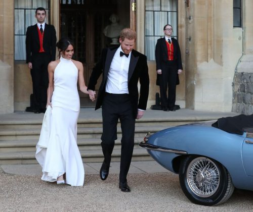 Meghan Markle and Prince Harry Leave for Reception-Getty Images