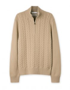 Half Zip Lambswool Cable Knit_R1007,76_Woolworths
