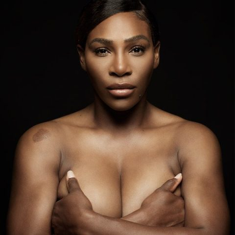 "Topless Serena Williams Sings ""I Touch Myself"" For Breast Cancer Awareness"