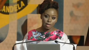 Chimamanda Ngozi Adichie Tributes Nelson Mandela at UNISA.