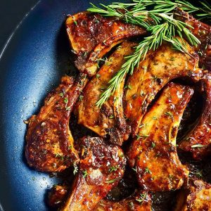 Sweet & Sour Lamb Chops.