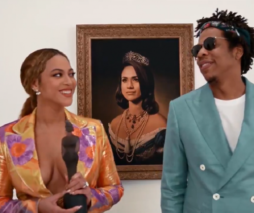 Beyoncé and Jay-Z Celebrate Meghan Markle In A Painting,