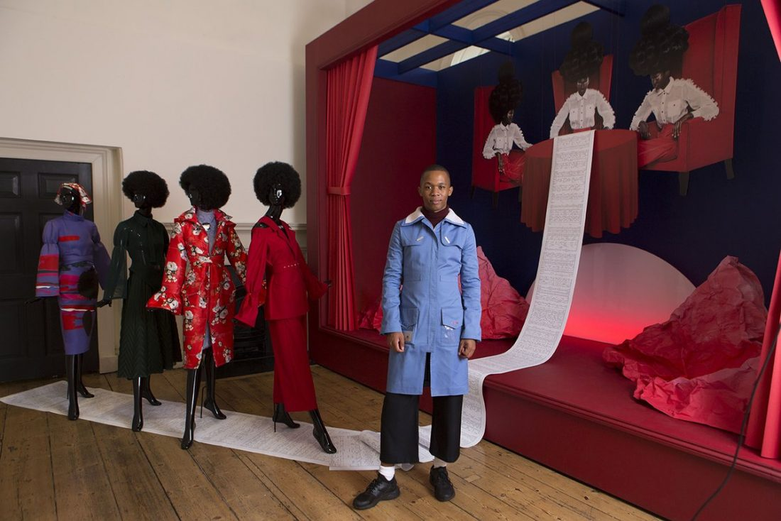Thebe Magugu Meets Vogue Editor and Wins International Fashion Showcase 2019,