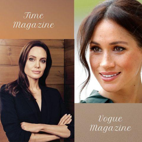 Angelina Jolie And Meghan Markle Are Magazine Editors