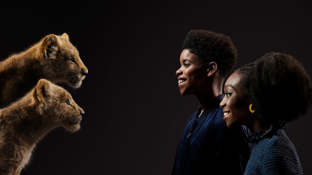 JD McCrary and Shahadi Wright Joseph as young Simba and Nala