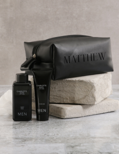 Personalised Leatherette Gents Black Wash Bag_R599.95