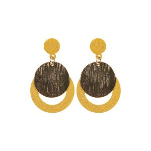 Circular Layered Drop Earrings_R99_Poetry