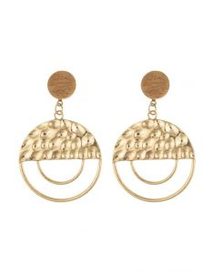 NALEDI Half Hammered Drop Earrings_R99.95_Woolworths