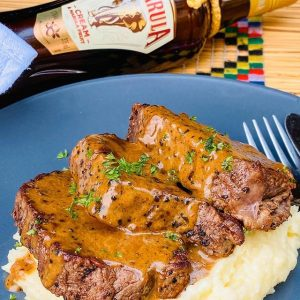 Pan-seared fillet with Amarula pepper sauce