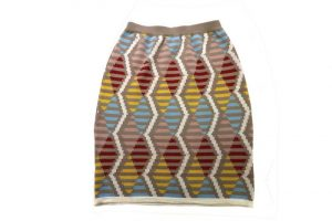 Jacquard medium weight knit skirt_R3500_Makhosa