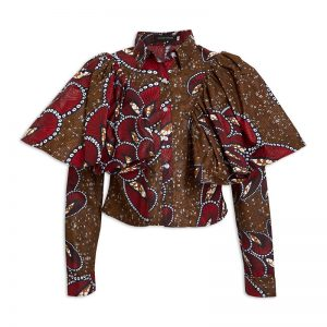 Red Printed Blouse_R599_YDE_Khosi Nkosi