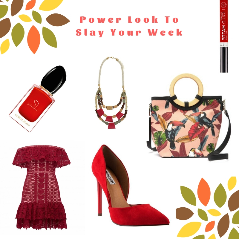 Power Look To Slay Your Week: Red Affair